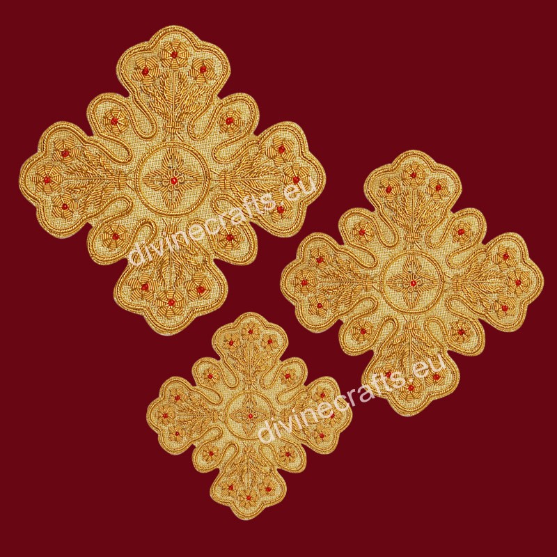 Byzantine Embroidered Cross Set