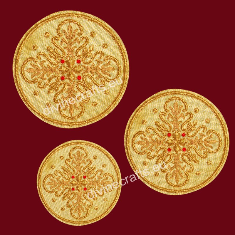 Byzantine Liturgical Embroidered Cross Set