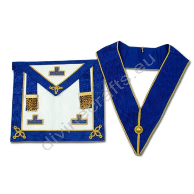 Craft Provincial Undress Apron with Blue Rosettes and Collar Set