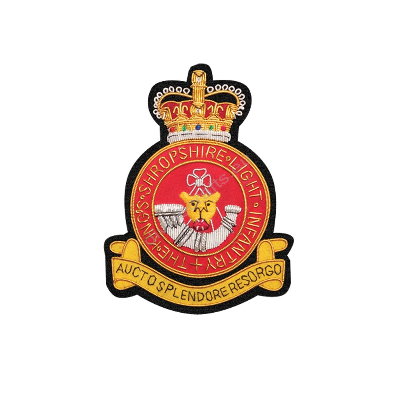 Kings Shropshire Light Infantry Blazer Badge