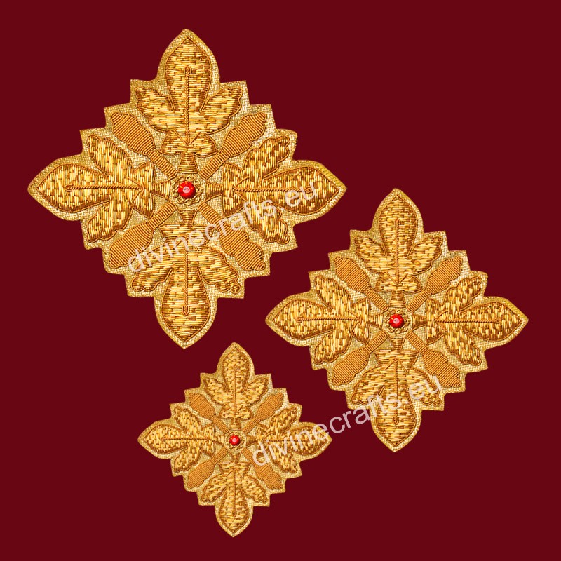 Embroidered Cross Set For Vestments