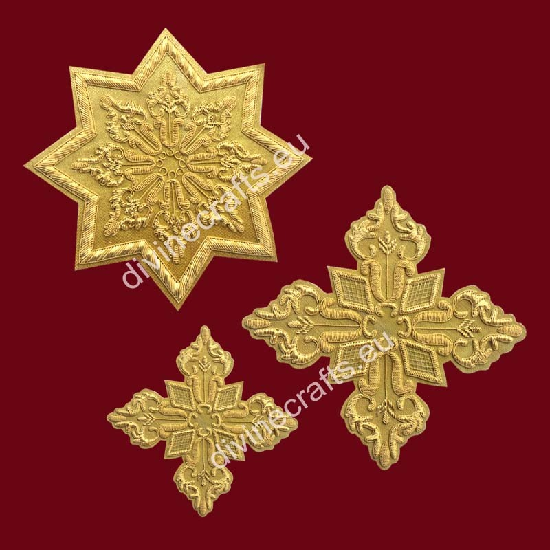 Gold Embroidery Priest Cross Sets