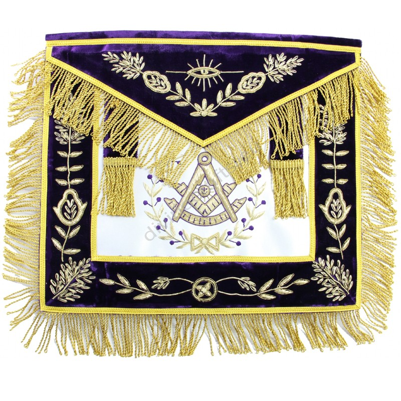 Hand Embroidered Past Master Masonic Aprons