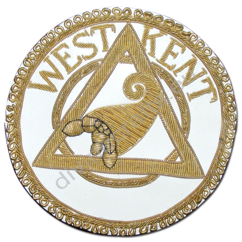 Gold Wair Vintage Masonic Embroidered Badge