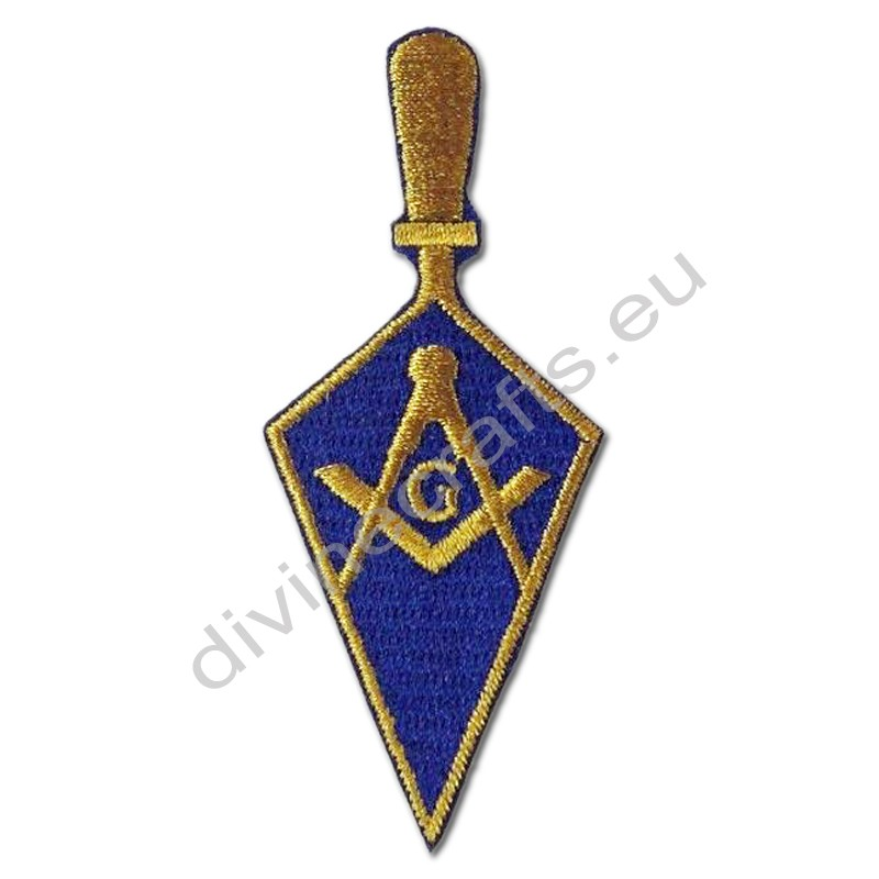 Masonic Trowel Embroidered Iron On Patch