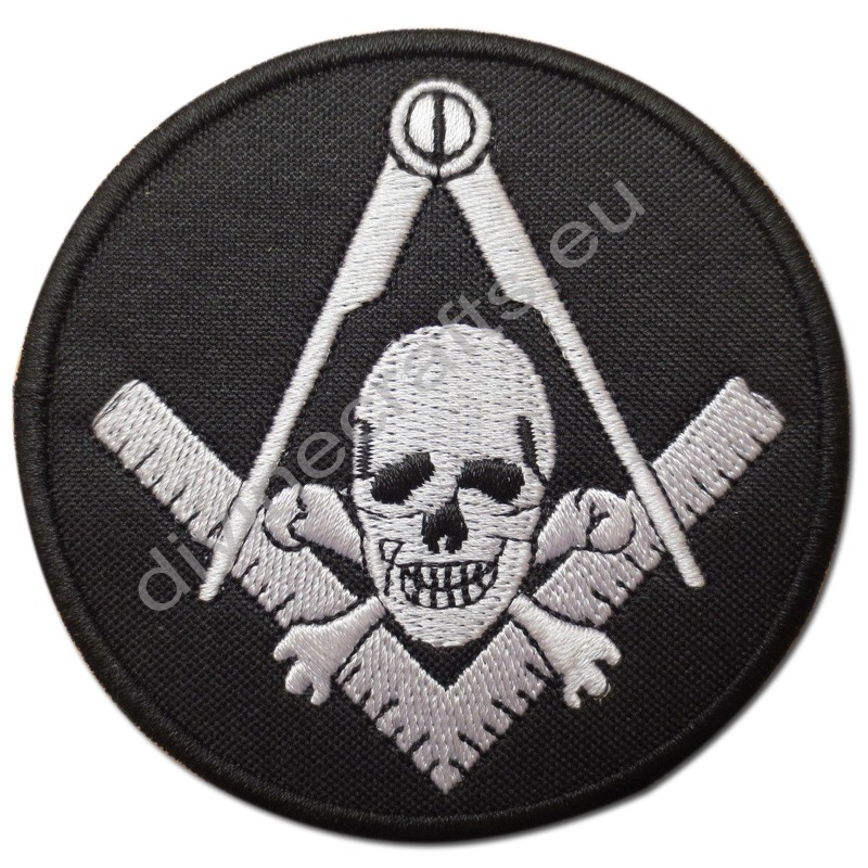 Compasses Skull Masonic Embroidery Patches