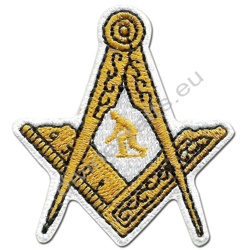 Masonic Embroidered Bowler Iron-On Patch
