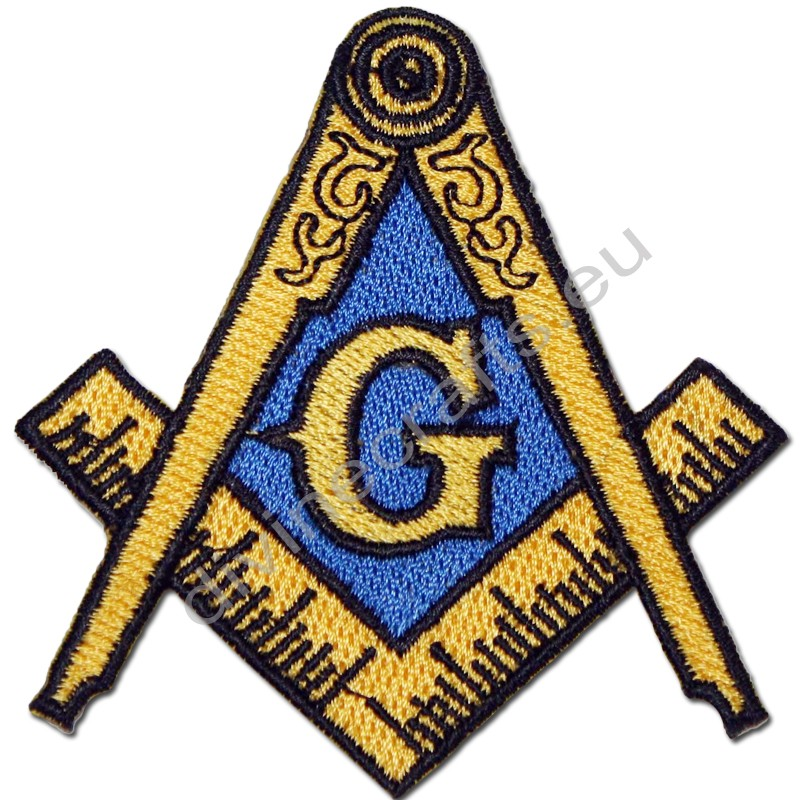 Embroidered Treasure Masonic Emblem Patch