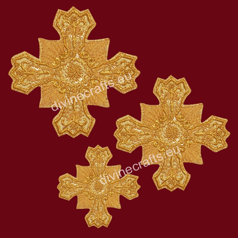 Embroidered Applique Vestment Crosses