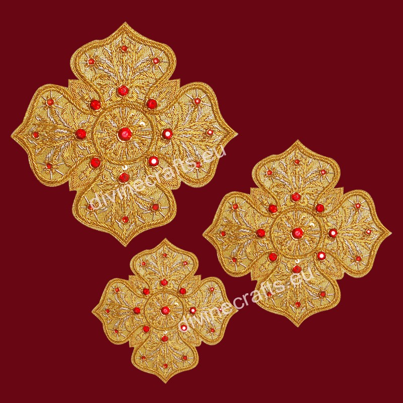 Handmade Applique Embroidered Cross Set
