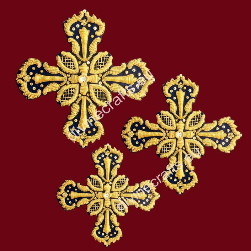 Priest Set of Embroidered Crosses