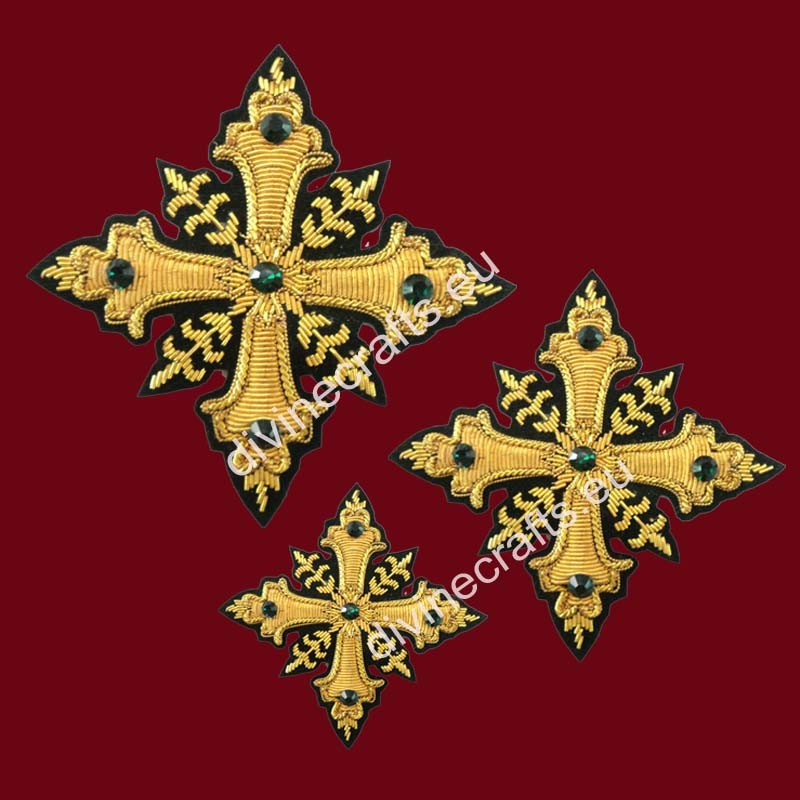 Gold Metallic Cross Set for Vestments