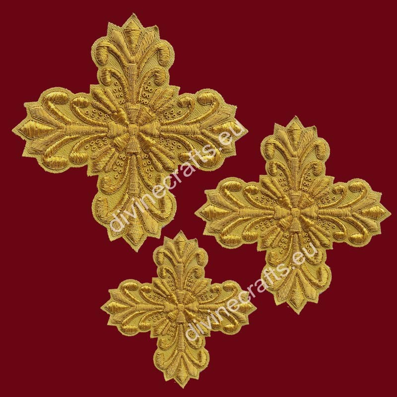 Gold bullion Embroidery Cross set