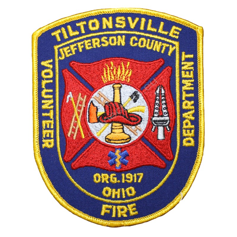 Embroidered Fire Tiltonsville Patches