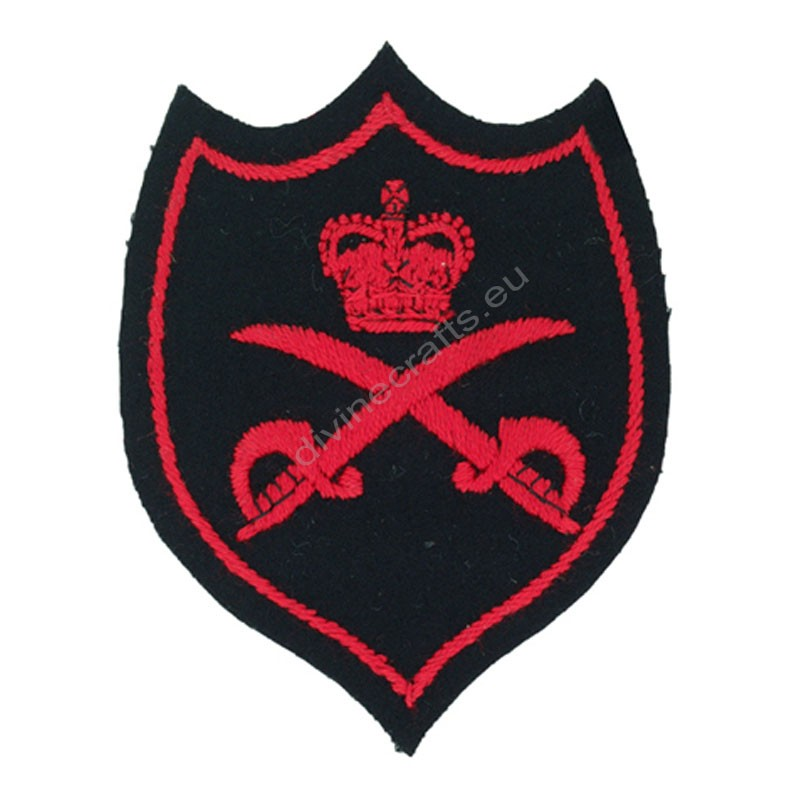 Royal Red Sward Embroidered Patch
