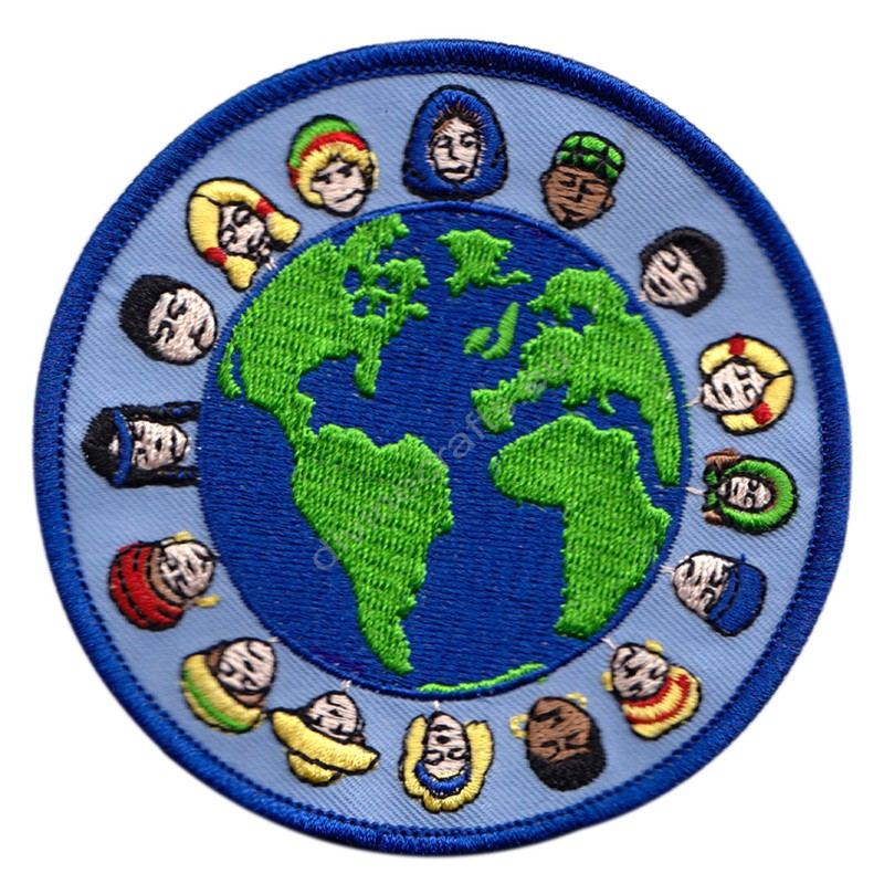 Around The World Embroidered Patch