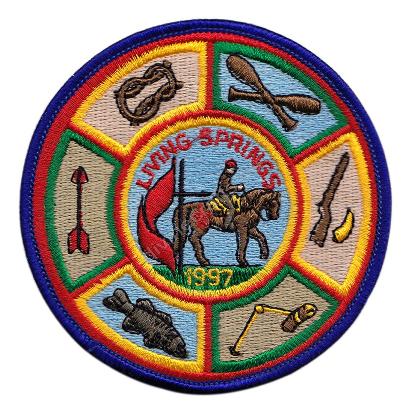 Living Spring Embroidered Patch