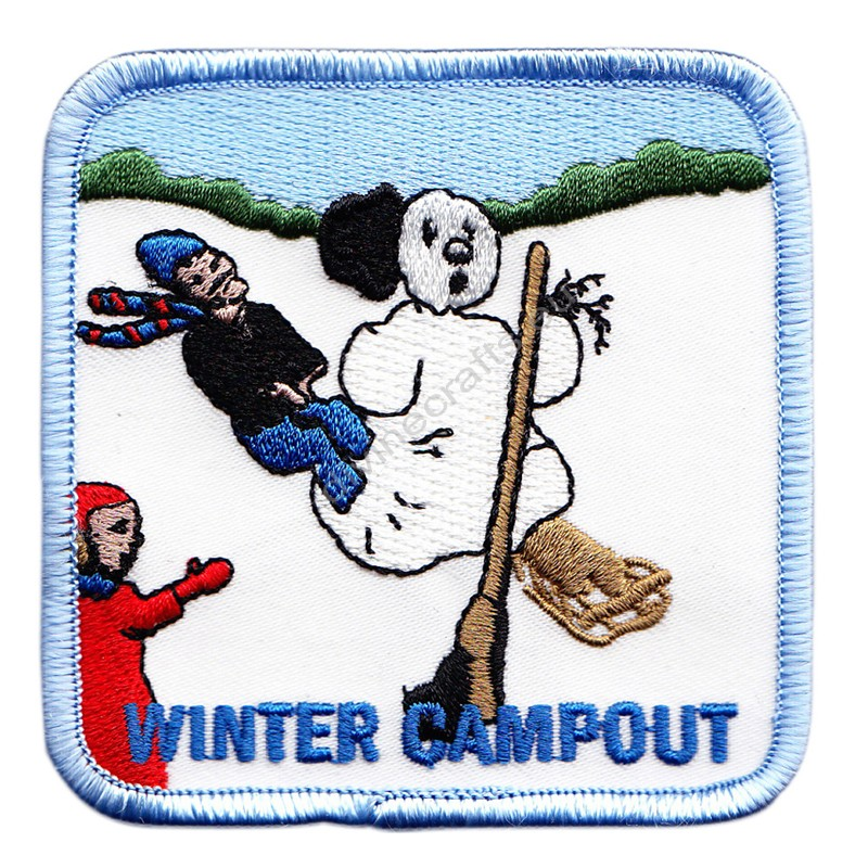 Winter Campout Embroidered Patch