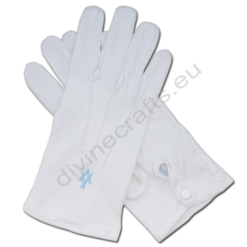 Masonic Gloves Embroidered Square And Compass