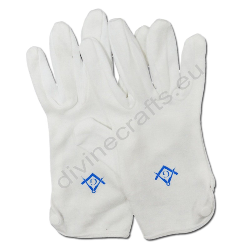 Plain White Cotton Gloves Masonic