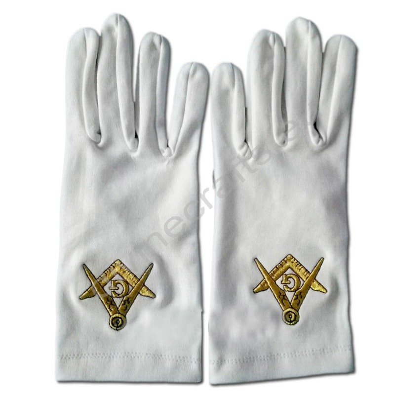 Masonic Craft Regalia Cotton Gloves