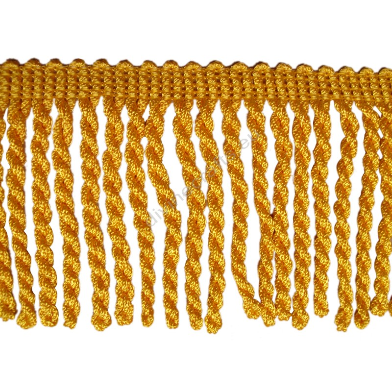 Chainette Rayon Yellow Gold Bullion Fringe