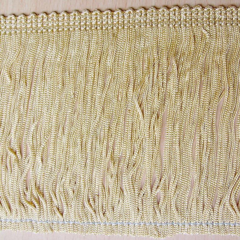 Chainette  Rayon Light Gold Bullion Fringe single strand