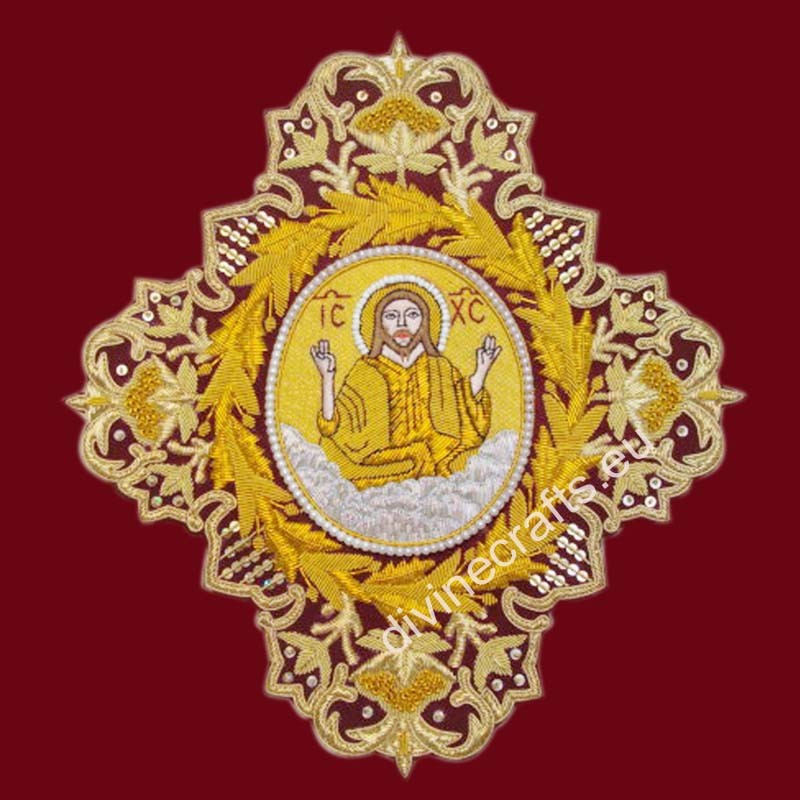 Embroidered Cross With Gold Icon
