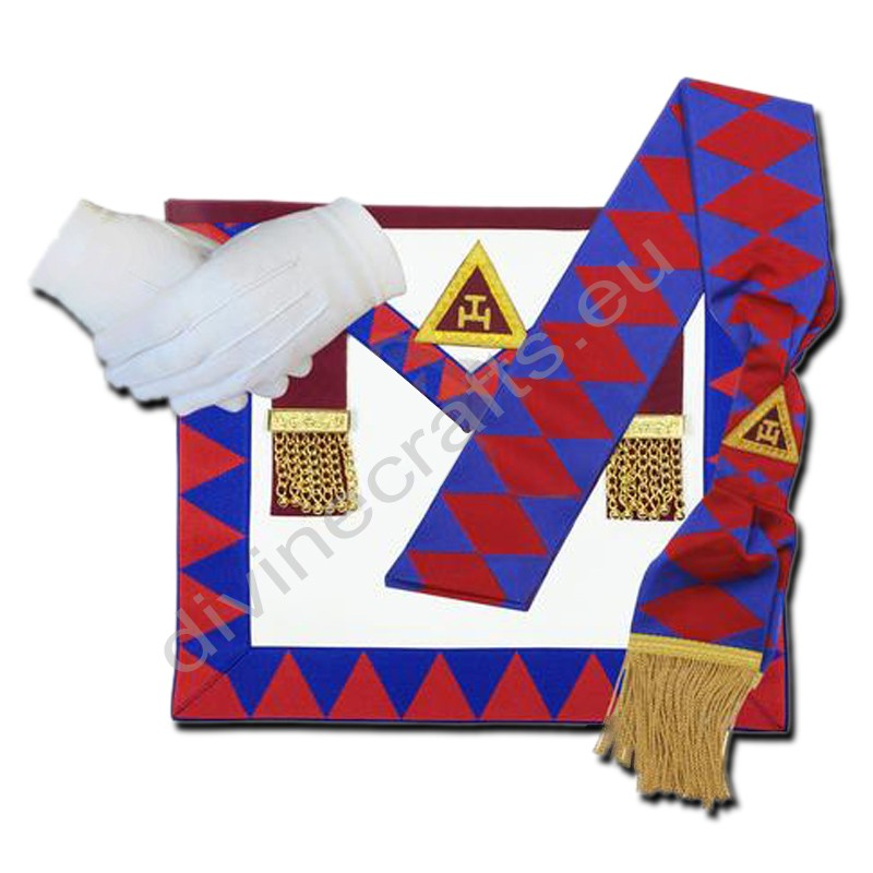 Masonic Regalia Royal Arch Principal Apron,Sash,Gloves Set
