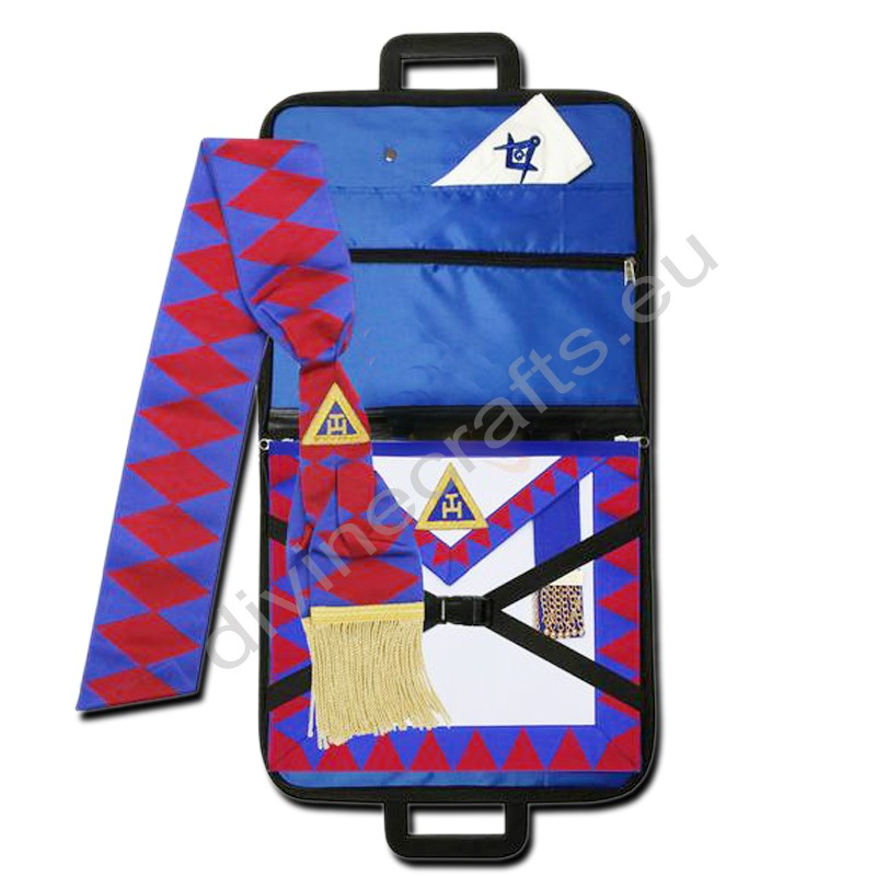 Masonic Regalia Royal Arch Provincial Apron,Masonic Case,Sash,Gloves Set
