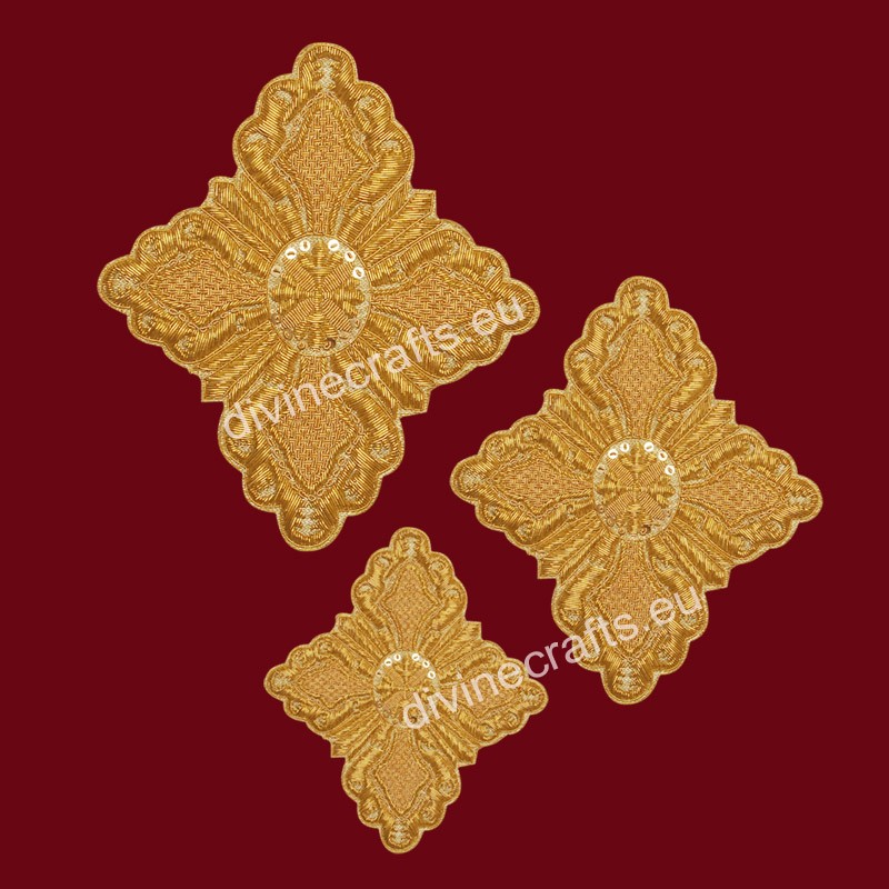 Orthodox Embroidered Cross Set