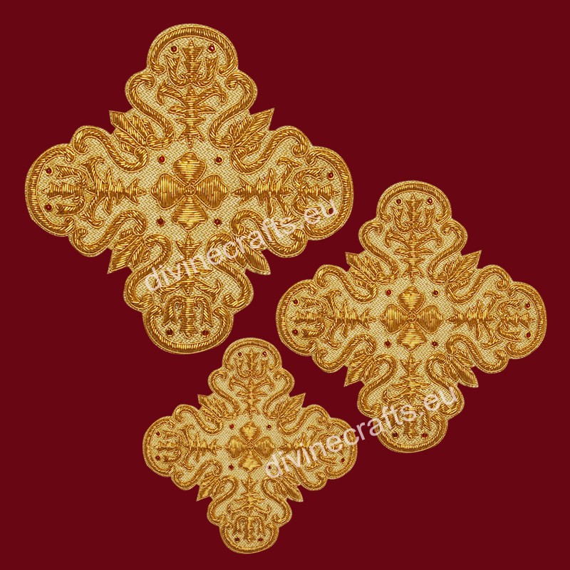 Orthodox Handmade Embroidered Cross Set