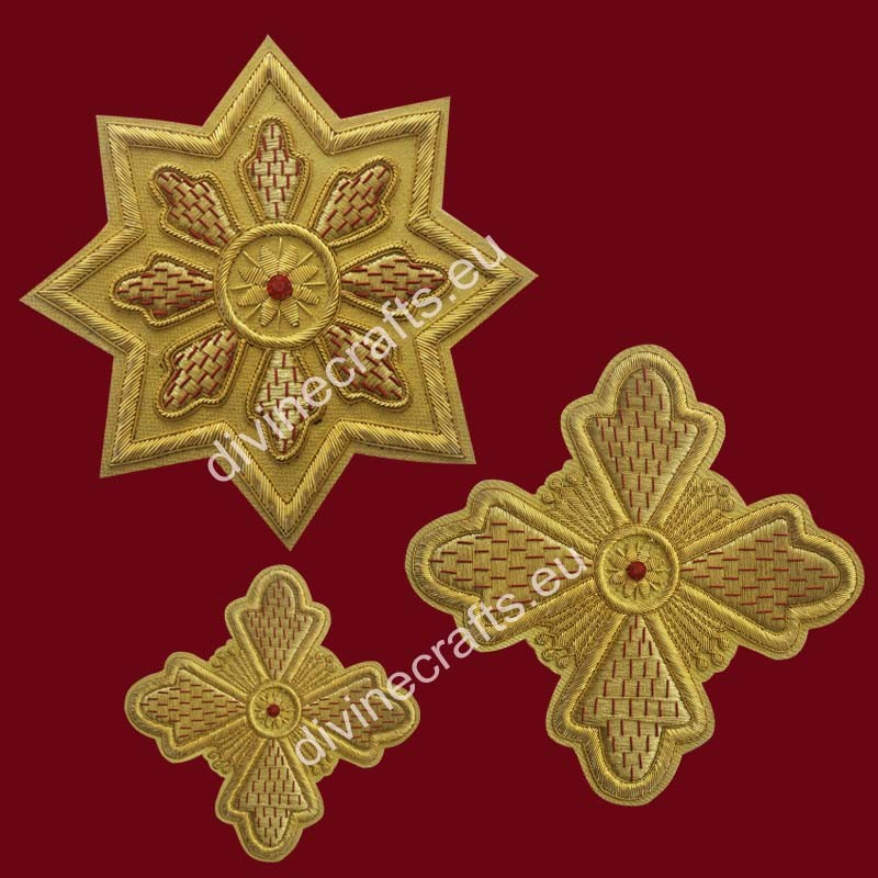 Russian Applique Hand Embroidered Cross Set