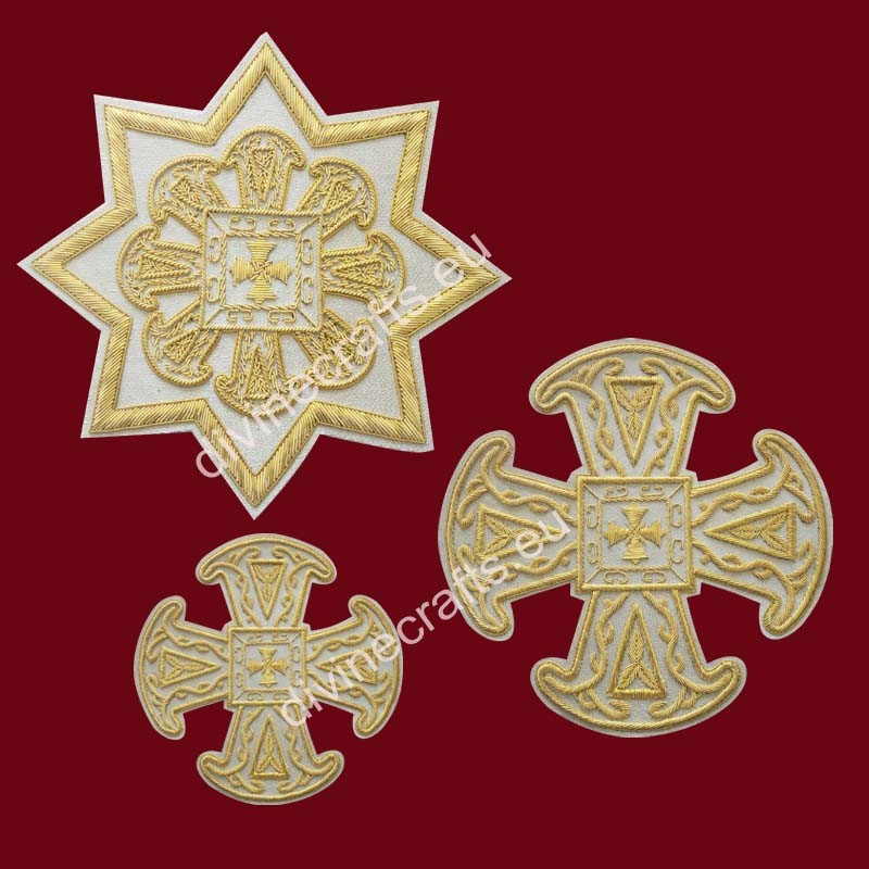 Liturgical Cross Set for Russian
