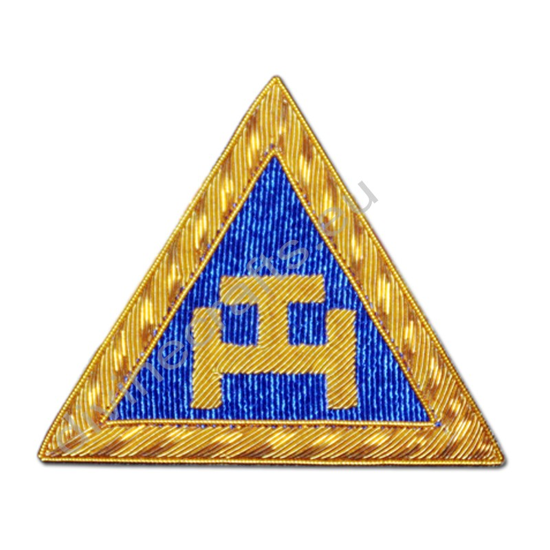 Masonic Royal Arch Embroidered Triple T Badges