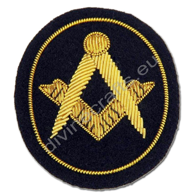 Civil War Masonic Embroidered Mason Small Badge