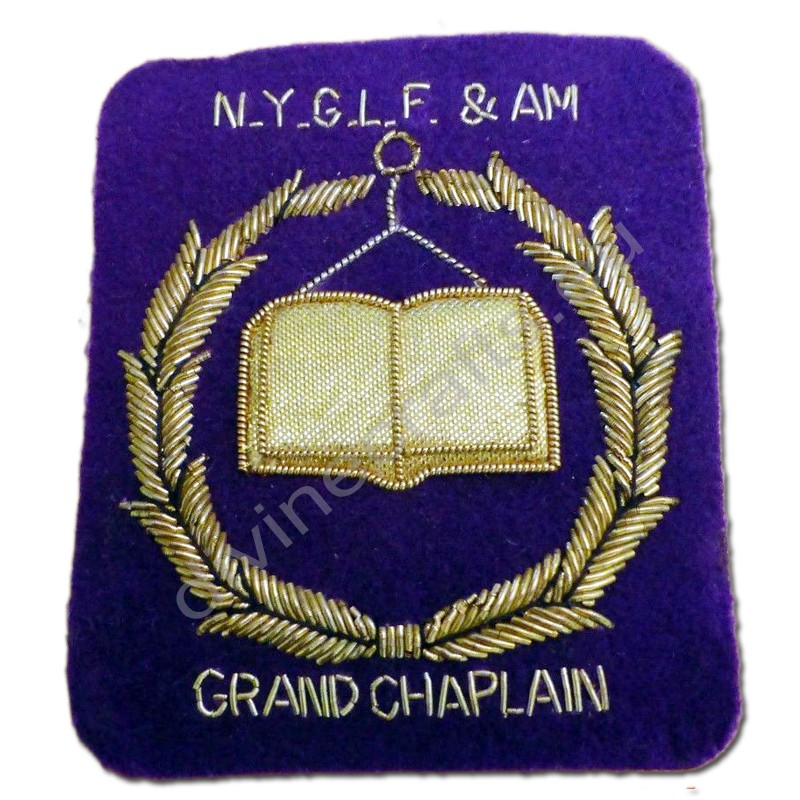 Vintage Mason Patch Masonic Grand Chaplin