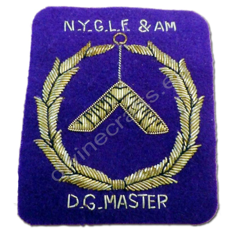 Vintage Master Masonic Patch Purple