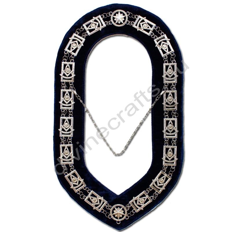 Masonic Past Master Silver Metal Chain Collar