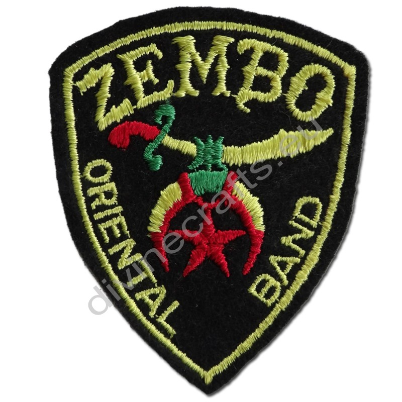 Masonic Zembo Oriental Band Embroidered Patch
