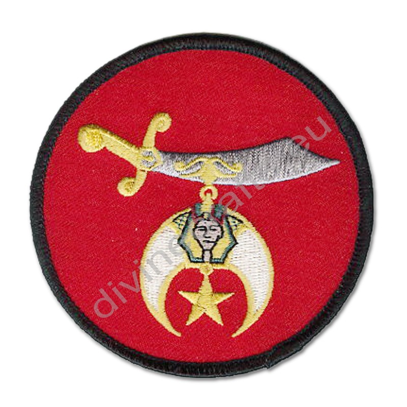 Masonic Shrine Red Embroidered Patch