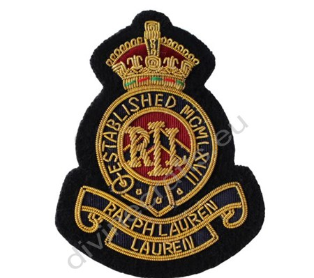 Bullion Wire Crown Badges