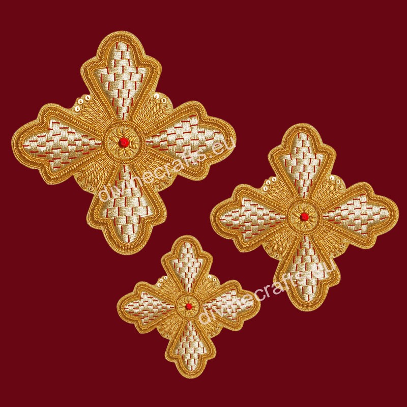 Vestments  Embroidered Cross Set