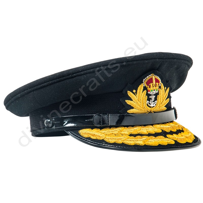 Royal Navy Officers Black Cap