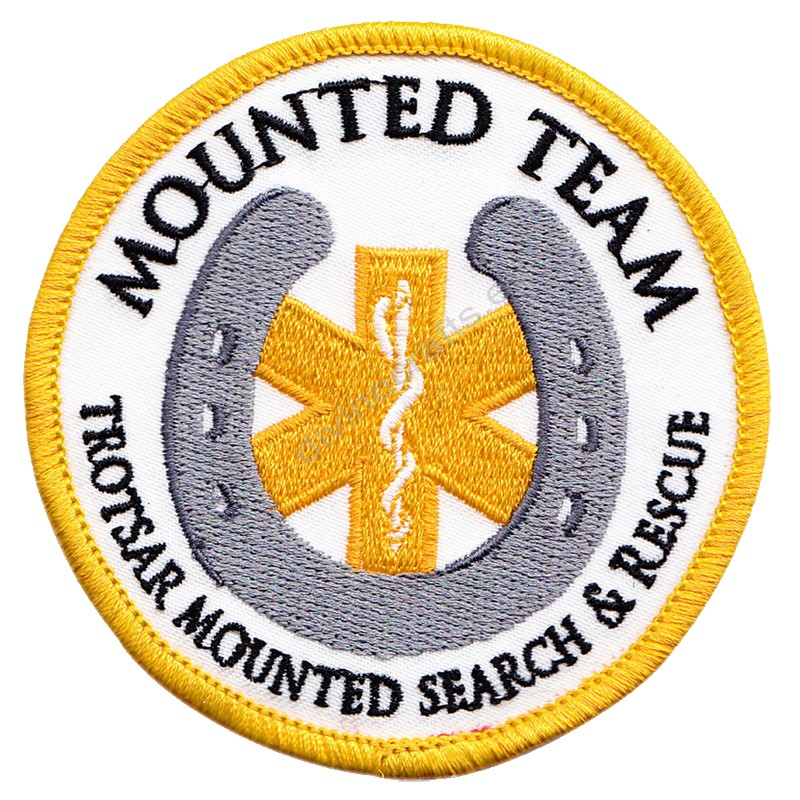 Mounted Team Embroidered Patch