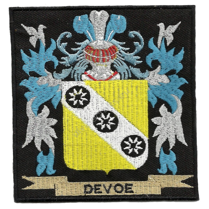 Family Crest Embroidered Patches