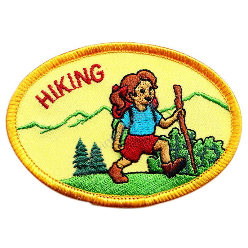 Hiking Embroidered Patch