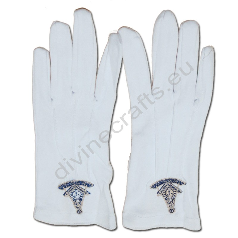 Masonic Gloves Customized Embroidery G5