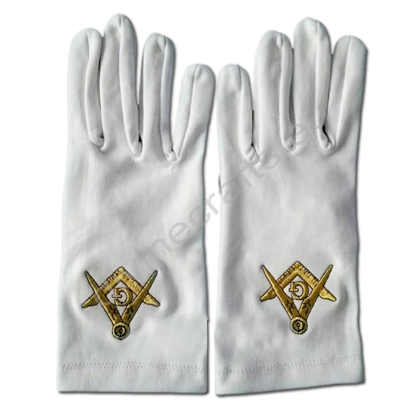 Masonic Craft Regalia Cotton Gloves