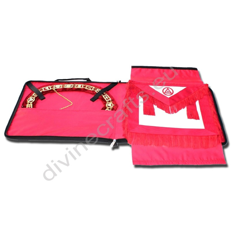Masonic Regalia Collar and Apron Bag Case Red